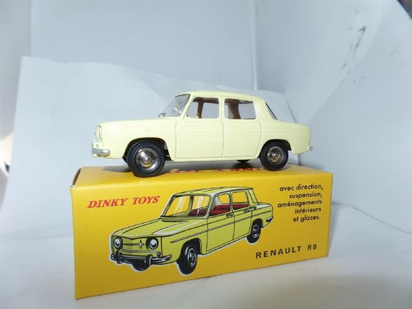 Atlas French Dinky 517 Renault 8 R8 Yellow